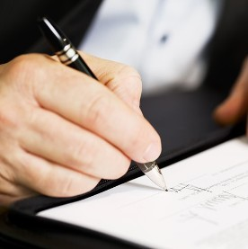 Signing Legal Document -  Real Estate Law